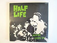 HALF LIFE NEVER GIVE IN LP ORIG. U.S. 1989 SEALED PITTSBURGH PUNK ROCK G.B.H.