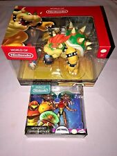 World of Nintendo BOWSER'S LAVA BATTLE SET + METROID & SAMUS SET **NEW**