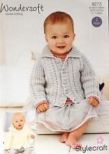 Stylecraft Jacket with Collar & Jacket with Hood  DK Knitting Pattern 0 - 7 yrs