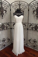 V123  HALEY PAIGE OCCASIONS 5622 SZ 8  ivory $319 #3416 FORMAL GOWN DRESS