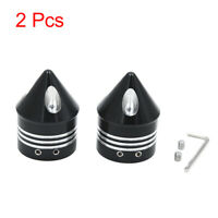 2pcs 29.5mm Dia Black Cone Design Motorcycle Front Axle Cap Cover for Harley