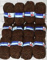 Vtg Yarn Lot Pingouin Confort Wool Acrylic Mohair Blend 305 Black Orange Matched