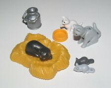 Playmobil Accessoire Décor Animal Lot Chat Chatons Souris & Accessoires NEUF
