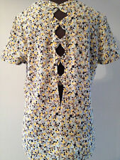 ZARA MULTICOLOR TOP WITH SHORT SLEEVES LARGE NWT