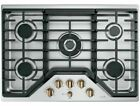 *FREE SHIP*New GE Cafe-20,000 BTU-Triple Ring Burner-5 Burners Stainless Cooktop photo