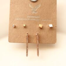 New 3Pairs American Eagle Outfitters Stud Earrings Fashion Women Party Jewelry