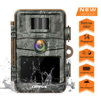 Campark Trail Camera FHD 1080P 14MP Wildlife Hunting Cam No Grow IR Night Vision