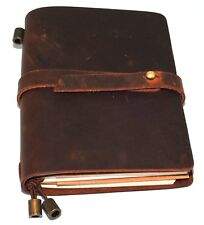 Leather Notebook Journal Handmade Vintage Leather Travel Diary Notepad 10.5x13.5