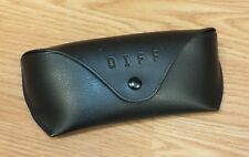 DIFF - Let's Make a Difference Black Unisex Sunglasses Case With Snap Lock