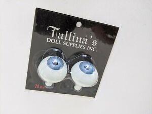 Tallina's Acrylic Doll Eyes - Size 28MM  Blue - New