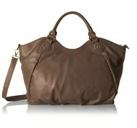 Buxton Kimberly Tote Crossbody & Shoulder Hobo Bag in Grey, Brown & Merlot