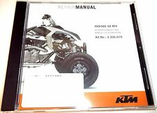 NEW KTM OEM REPAIR MANUAL DISK DVD 2009 - 2012 450 505 SX ATV 3206156