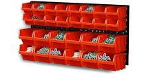 30 Piece Plastic Mounted Wall DIY Tool Organiser Storage Bin & Board Set