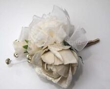 Bouquet Vintage CHAMPAGNE ROSE pulsante Foro Diamante Artificiale Fiore Nozze