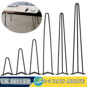 "4 x Hairpin Legs / Hair Pin Legs Set for Furniture Bench Desk Table 8""-30"" UK"