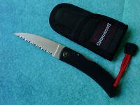 BROWNING Medium Straight Edge Knife 724 NEW Seki Japan 440C Serrated Wharncliffe