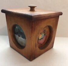 Country Primitive Hand Painted Cedar Box with Lid 7 x 7 x 7""