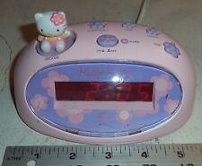 Hello Kitty LED Digital Alarm Clock  Electric  Battery Backup Pink KT3005P