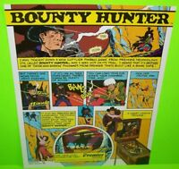 BOUNTY HUNTER Pinball FLYER Original 1985 NOS Promo Art Western Theme Gottlieb