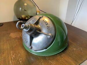 Victor FLP Enamel Cast Steel Vintage Pendant Light Restored Rewired