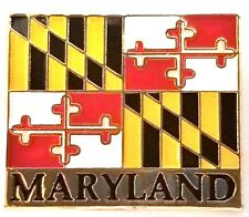 or Lapel Pin Maryland Flag Hat Tac