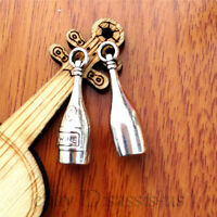 10pcs 27mm charm Silver wine bottle Pendant DIY Jewelry Making Fit necklace 7523