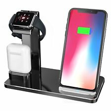 3 in 1 Wireless Charger Dock Stand Charging Station for Apple iWatch iPhone