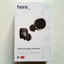 Here One Wireless Smart Earbuds Noise Cancelling & In Ear Bluetooth Black NEW