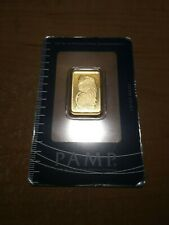 10 gram Gold Bar - PAMP Suisse - 999.9 Fine in Sealed Certified Assay Card