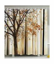 Shower Curtain Fall Trees Print Mom Gift Ideas Polyester Fabric... Free Shipping