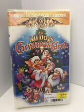 An All Dogs Christmas Carol MGM Family VHS Clamshell Christmas Movie New