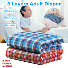 Urine Mat Washable Incontinence Bed Reusable Diaper Pad Seat Protection Sheets