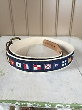 Canterbury mens nautical belt Size 36