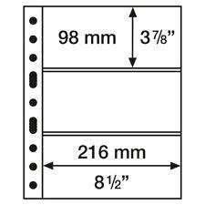 50 hojas 3 divisiones para billetes (de PP, sin PVC) *StarCollect *LuzDeFaro