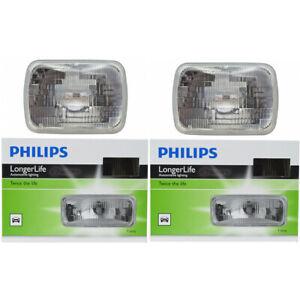 2 pc Philips High Low Beam Headlight Bulbs for Ford Aerostar Bronco Bronco ah