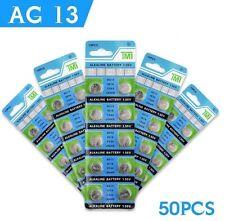 50 X AG13 LR44 SR44 L1154 357 A76 1.5V ALKALINE BUTTON / COIN CELLS BATTERIES UK