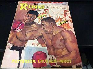 THE RING 1965 CASSIUS CLAY / LISTON COVER BOXING MAGAZINE RARE COOL GOOD CONDITI