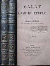 Bougeart Marat l ami du peuple 2 volumes 1865 Edition originale