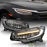 LED DRL Low/High SEQUENTIAL Headlamps For 2016-2020 Honda Civic Headlights Pair