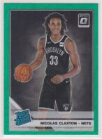 2019-20 Nicholas Claxton Optic Green Wave Prizm Bask. Rookie Card #198 Fanatics