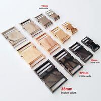 1-5pc Metal Bag Backpack Strap Webbing Belt Quick Side Release Buckle Clip Clasp