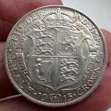 1915 King Geroge V Silver Half Crown Very Nice Grade