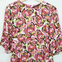 ZARA Womens Floral Print Dress [ Size AU 8 or US 4 ]