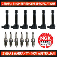 6x Genuine NGK Spark Plugs & 6x Ignition Coils for Honda Accord CG1 CK1