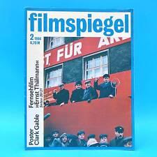 DDR Filmspiegel 2/1986 NVA-Filmstudio Clark Gable Richard Chamberlain Schell G