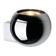 Intalite light EYE BALL wall light, chrome/white, GU10, max. 75W