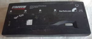 StarTech StarView SV411 4 Port KVM Switch PS/2 VGA Sharing NO AC ADAPTER Used