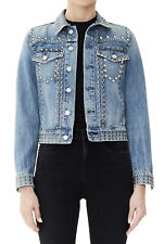 NEW $578 Citizens Of Humanity Cleo Studded Jeans Jacket Size Medium