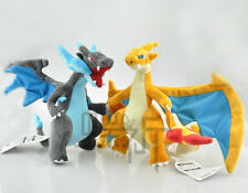 Set of 2pcs  Pokemon Plush Doll Figure Mega Evolution X /Y Charizard Glurak 9""