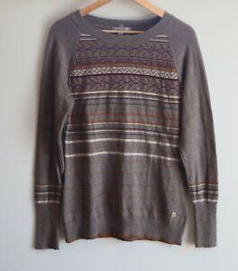SMARTWOOL Women's ETHNO GRAPHIC Merino Sweater Long Sleeve Sweater Top XL
